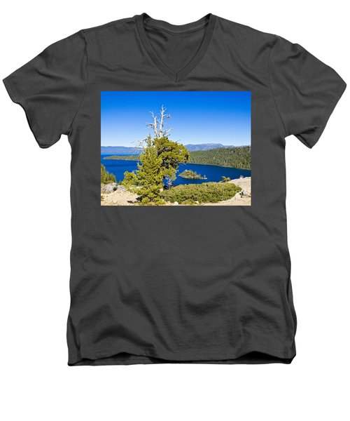 Sky Blue Water - Emerald Bay - Lake Tahoe Men's V-Neck T-Shirt