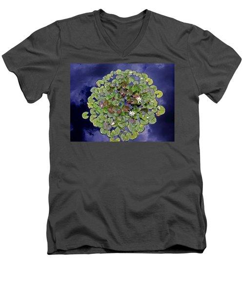 Sky Lilies Men's V-Neck T-Shirt