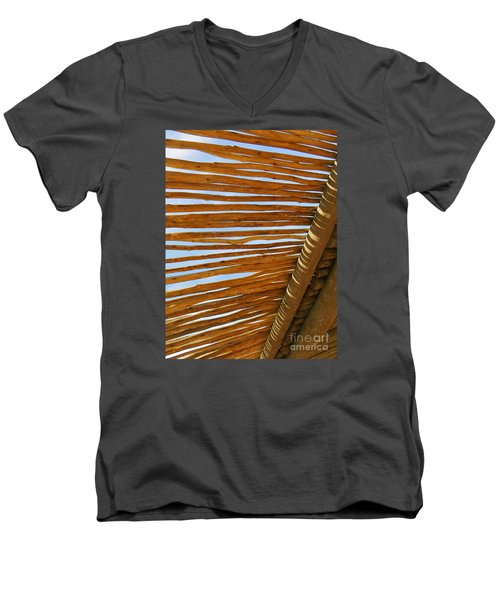 Men's V-Neck T-Shirt featuring the photograph Sky-lined  by Joy Hardee