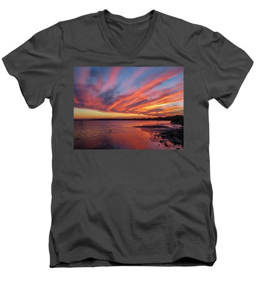 Sky On Fire Men's V-Neck T-Shirt