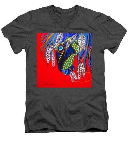 Sky Spirit Men's V-Neck T-Shirt