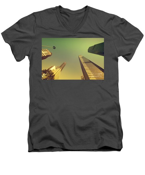 Skyscraper Men's V-Neck T-Shirt