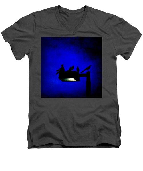 Sleepless At Midnight Men's V-Neck T-Shirt