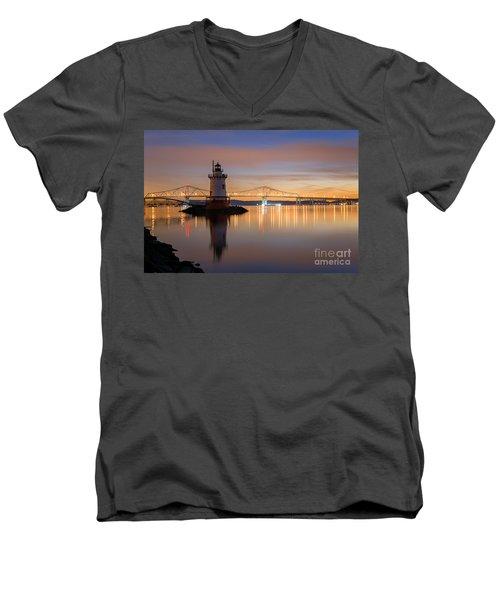 Sleepy Hollow Light Reflections  Men's V-Neck T-Shirt by Michael Ver Sprill