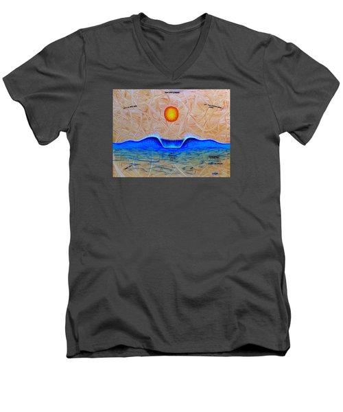 Slow Down And Breathe Men's V-Neck T-Shirt