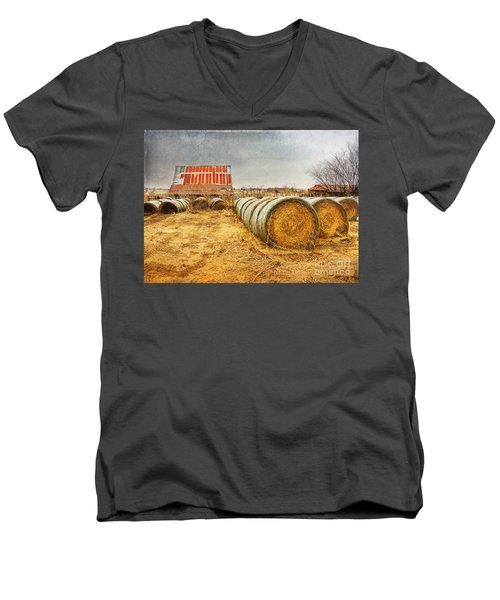 Slumbering In The Countryside Men's V-Neck T-Shirt