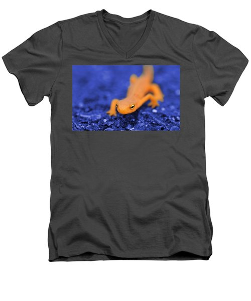 Sly Salamander Men's V-Neck T-Shirt by Luke Moore