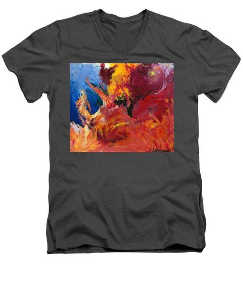 Small Passion 1 Men's V-Neck T-Shirt