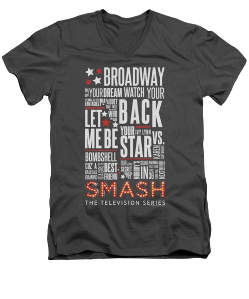 Smash - Broadway Men's V-Neck T-Shirt by Brand A