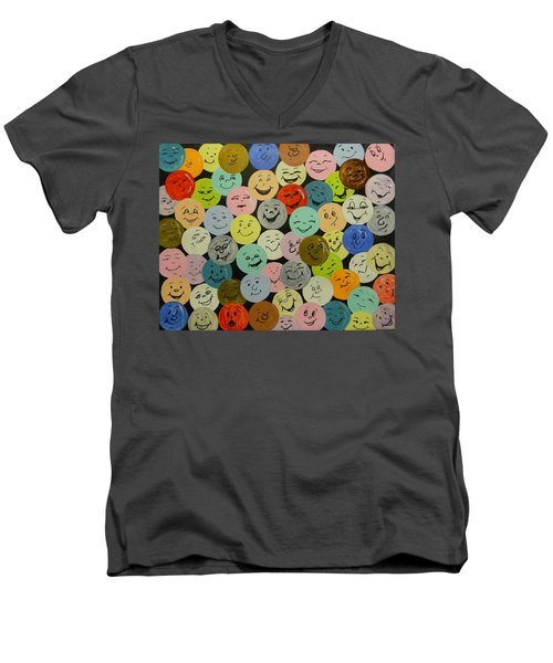 Smilies Men's V-Neck T-Shirt