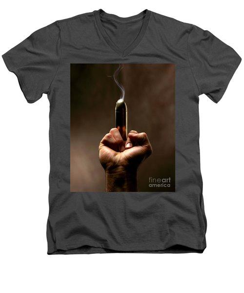 Take A Bullet ... Men's V-Neck T-Shirt