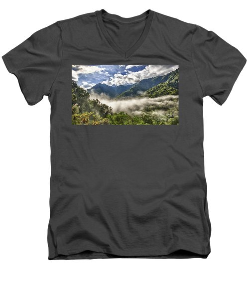 Smoky Mountain Chimney Tops Men's V-Neck T-Shirt
