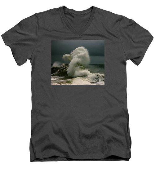 Snake Wave Men's V-Neck T-Shirt by Michael Cinnamond