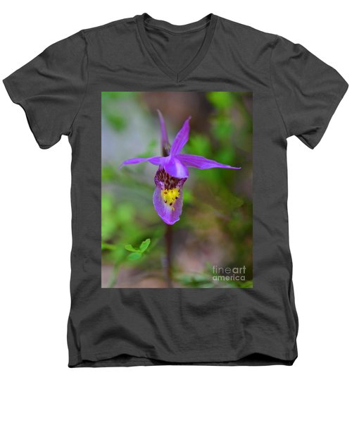 Men's V-Neck T-Shirt featuring the digital art Snapdragon by Mae Wertz