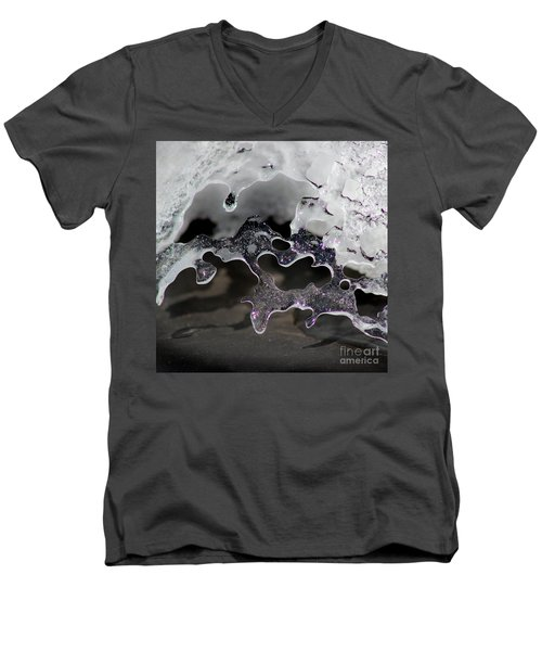 Snow And Ice Square Men's V-Neck T-Shirt