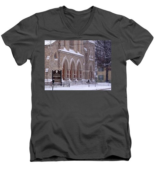 Snow At St. John's Men's V-Neck T-Shirt