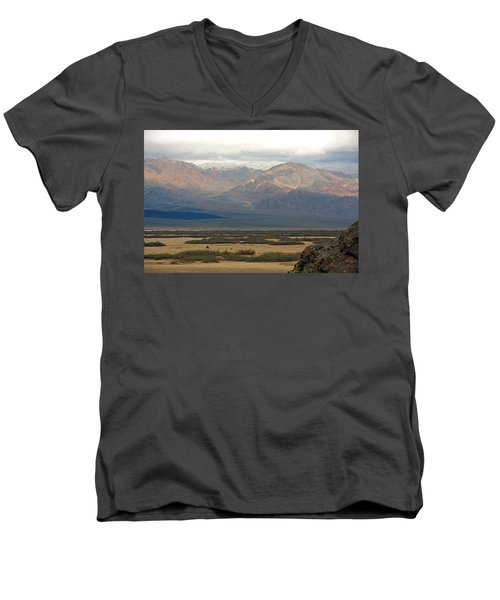 Men's V-Neck T-Shirt featuring the photograph Snow Peaks by Stuart Litoff
