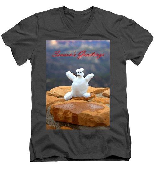 Snowball Snowman Men's V-Neck T-Shirt