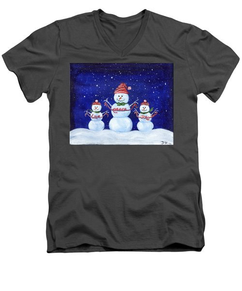 Snowmen Men's V-Neck T-Shirt
