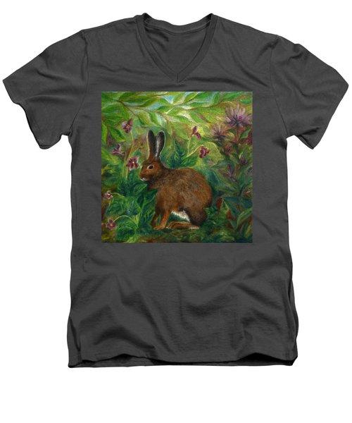 Snowshoe Hare Men's V-Neck T-Shirt