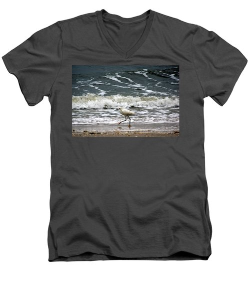 Snowy White Egret Men's V-Neck T-Shirt