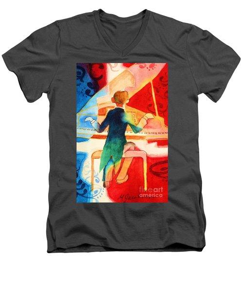 So Grand Men's V-Neck T-Shirt by Marilyn Jacobson
