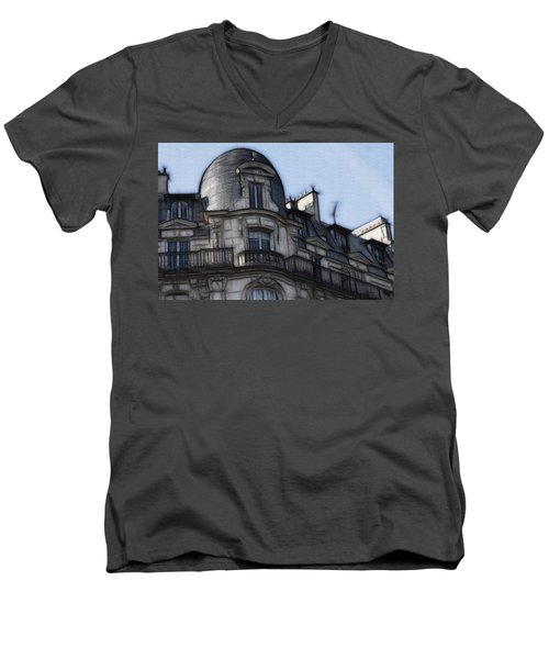 Softer Side Of Paris Architecture Men's V-Neck T-Shirt