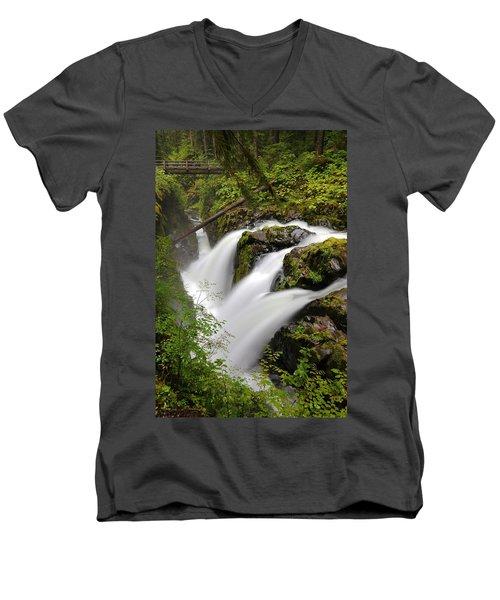 Sol Duc Falls Men's V-Neck T-Shirt