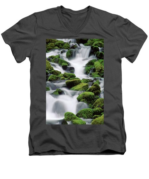 Sol Duc Stream Men's V-Neck T-Shirt