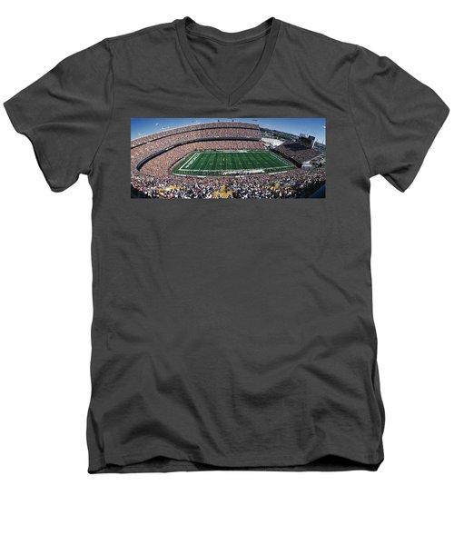 Sold Out Crowd At Mile High Stadium Men's V-Neck T-Shirt