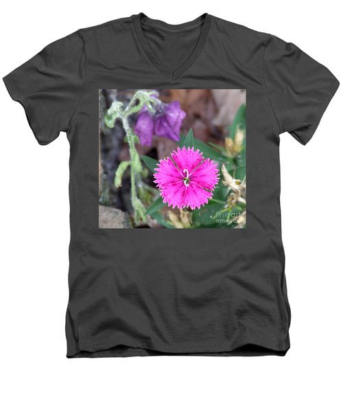Men's V-Neck T-Shirt featuring the photograph Solitary by Andrea Anderegg