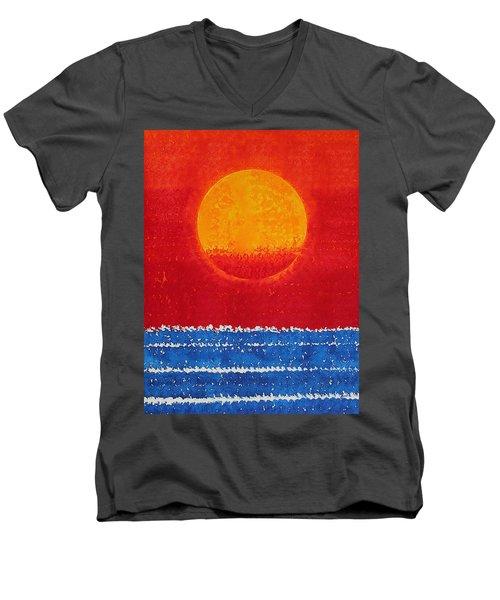 Solstice Sunrise Original Painting Sold Men's V-Neck T-Shirt