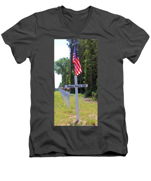 Men's V-Neck T-Shirt featuring the photograph Some Gave All by Gordon Elwell