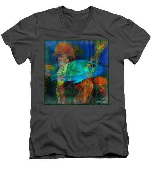 Something Fishy Men's V-Neck T-Shirt by Erika Weber