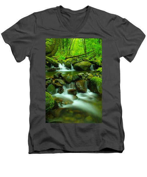 Sometimes Its Best To Sit And Dream Men's V-Neck T-Shirt by Jeff Swan