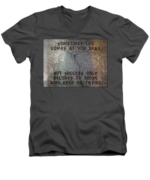 Sometimes Life Comes At You Hard Men's V-Neck T-Shirt by Absinthe Art By Michelle LeAnn Scott