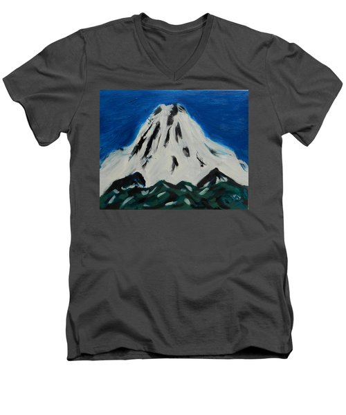 Somewhere Rainier Men's V-Neck T-Shirt by David Trotter