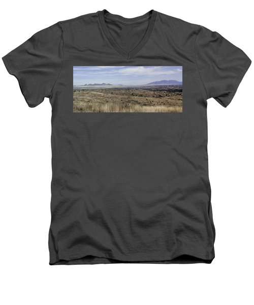 Men's V-Neck T-Shirt featuring the photograph Sonoita Arizona by Lynn Geoffroy