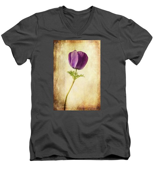 Sophisticated Lady Men's V-Neck T-Shirt by Caitlyn  Grasso