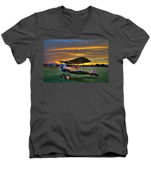 Sopwith Sunset Men's V-Neck T-Shirt