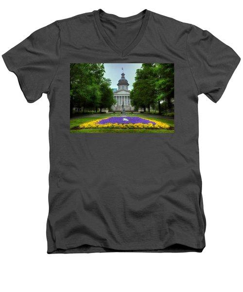 South Carolina State House Men's V-Neck T-Shirt by Michael Eingle