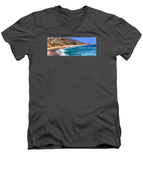 South Laguna Beach Coast Men's V-Neck T-Shirt by Jim Carrell