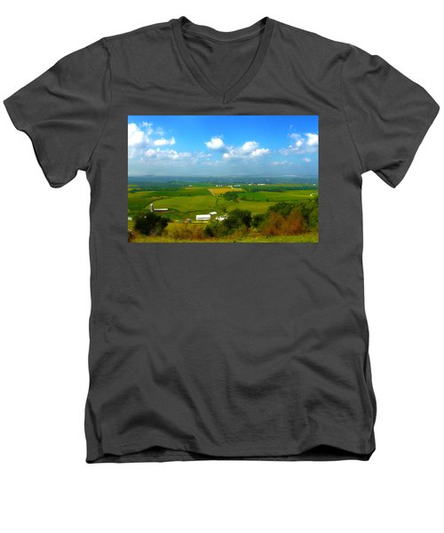 Southern Illinois River Basin Farmland Men's V-Neck T-Shirt