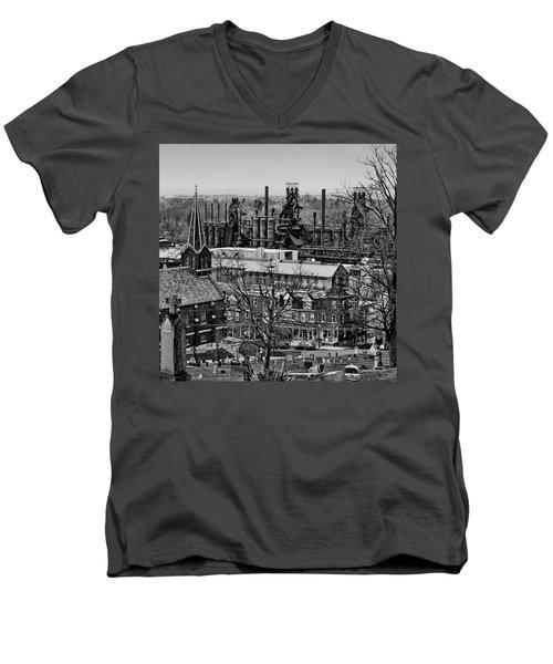Southside Men's V-Neck T-Shirt by DJ Florek
