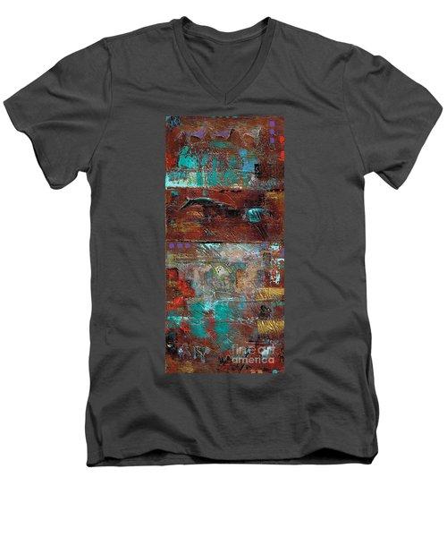 Southwest Horses Men's V-Neck T-Shirt