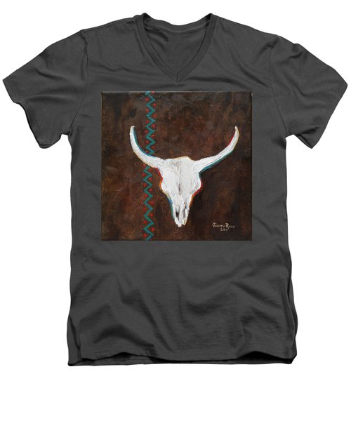Southwestern Influence Men's V-Neck T-Shirt by Judith Rhue