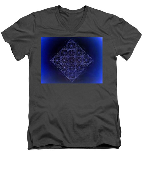 Space Time Sine Cosine And Tangent Waves Men's V-Neck T-Shirt