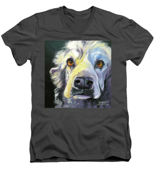 Spaniel In Thought Men's V-Neck T-Shirt