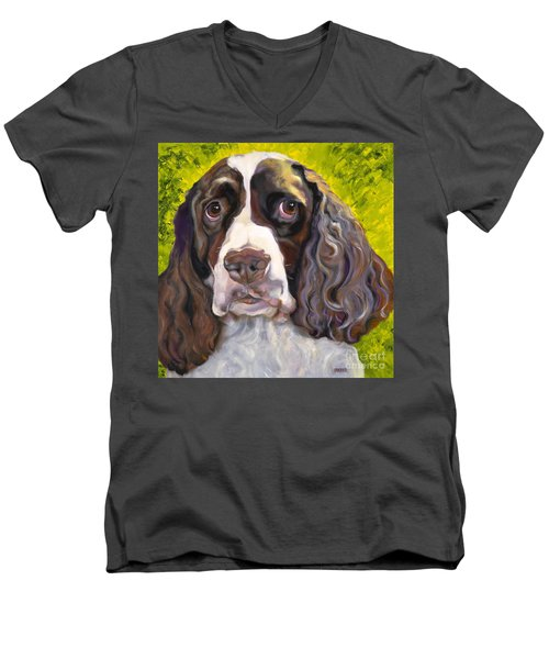 Spaniel The Eyes Have It Men's V-Neck T-Shirt