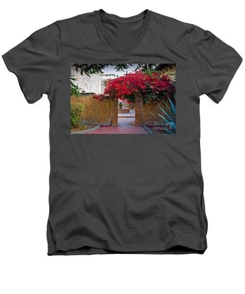 Spanish Mission Men's V-Neck T-Shirt